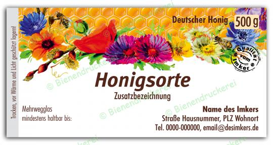 Honigglas Etikett Motiv 076