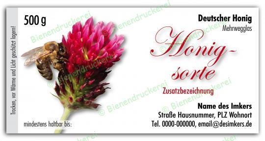 Honigglas Etikett Motiv 077