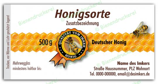 Honigglas Etikett Motiv 078