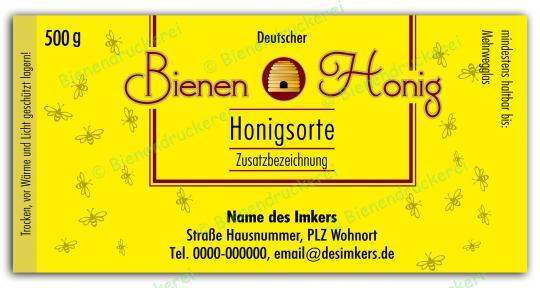 Honigglas Etikett Motiv 130