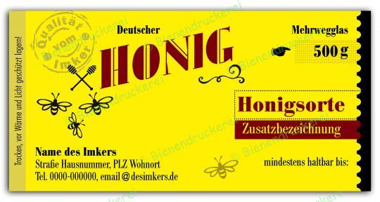 Honigglas Etikett Motiv 131