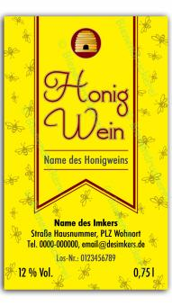 Honigwein-Etikett 1320