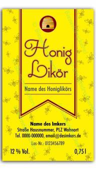Honiglikör-Etikett 1321