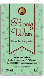 Honigwein-Etikett 1420