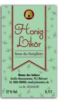 Honiglikör-Etikett 1421