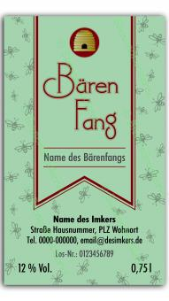 Bärenfang-Etikett 1422