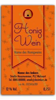 Honigwein-Etikett 1570
