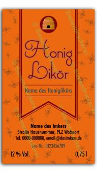 Honiglikör-Etikett 1571
