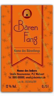 Bärenfang-Etikett 1572