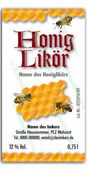 Honiglikör-Etikett 1583