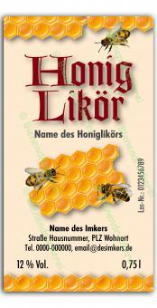 Honiglikör-Etikett 1584