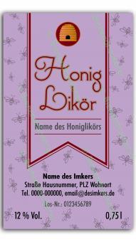 Honiglikör-Etikett 1621