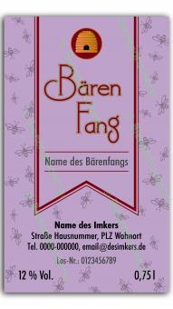 Bärenfang-Etikett 1622