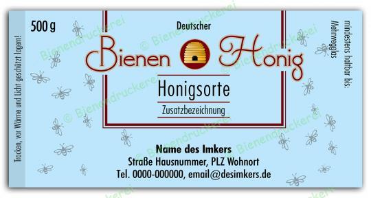 Honigglas Etikett Motiv 170