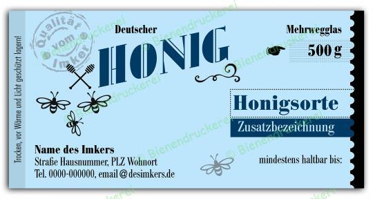 Honigglas Etikett Motiv 171