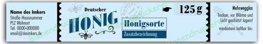 Honigglas Etikett Motiv 171 125g Twist-Off | 100