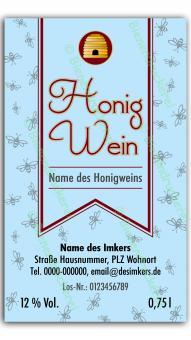 Honigwein-Etikett 1720