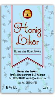 Honiglikör-Etikett 1721