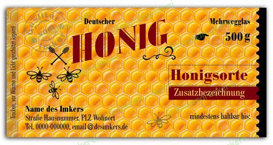 Honigglas Etikett Motiv 181