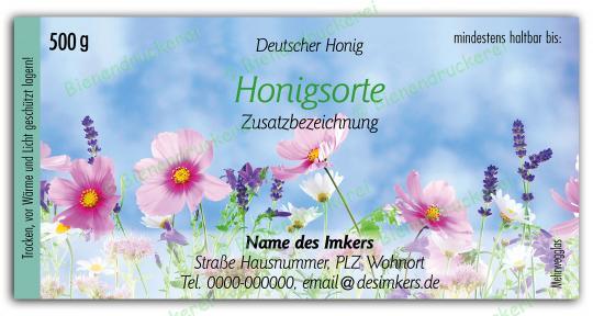 Honigglas Etikett Motiv 201