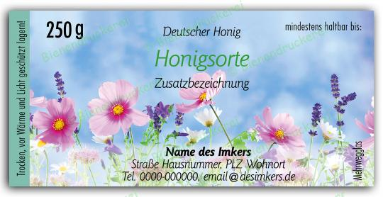 Honigglas Etikett Motiv 201 250g klassisch   75