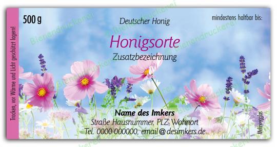 Honigglas Etikett Motiv 202