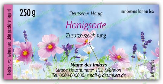Honigglas Etikett Motiv 202 250g klassisch | 1000