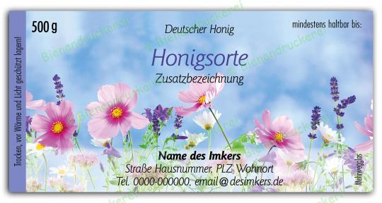 Honigglas Etikett Motiv 203