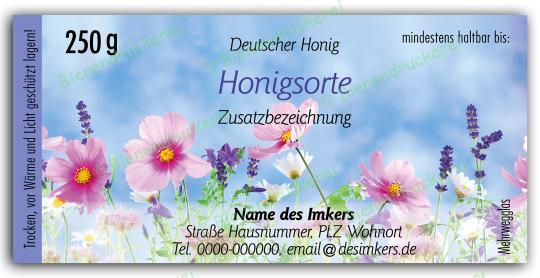 Honigglas Etikett Motiv 203 250g klassisch | 75