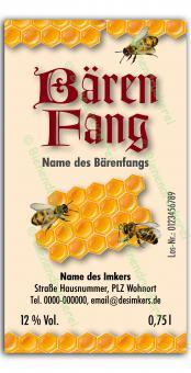 Bärenfang-Etikett 2584