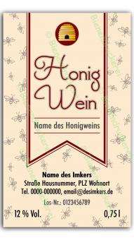 Honigwein-Etikett 3584