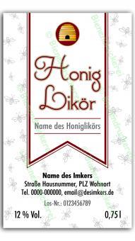 Honiglikör-Etikett 4583