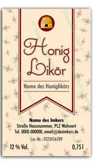 Honiglikör-Etikett 4584