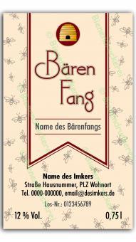 Bärenfang-Etikett 5584