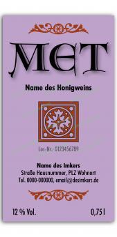 Met-Etikett 0588 25